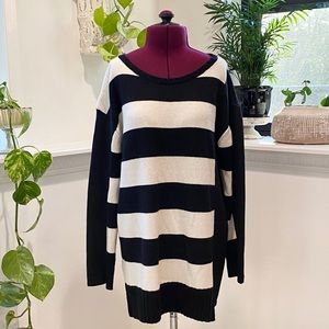 FRENCH CONNECTION black and white striped sweater